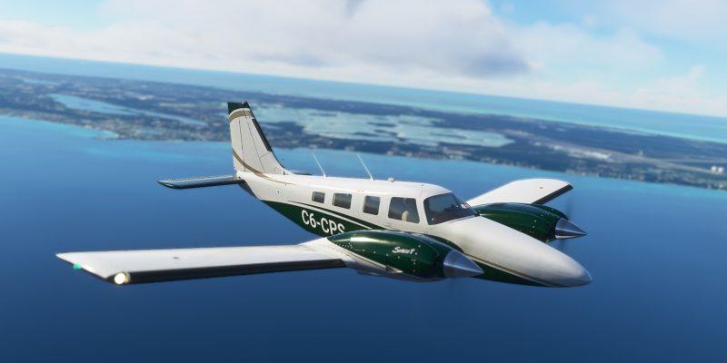 Microsoft Flight Simulator Carenado Pa34t Seneca V Leaving Nassau Close Up