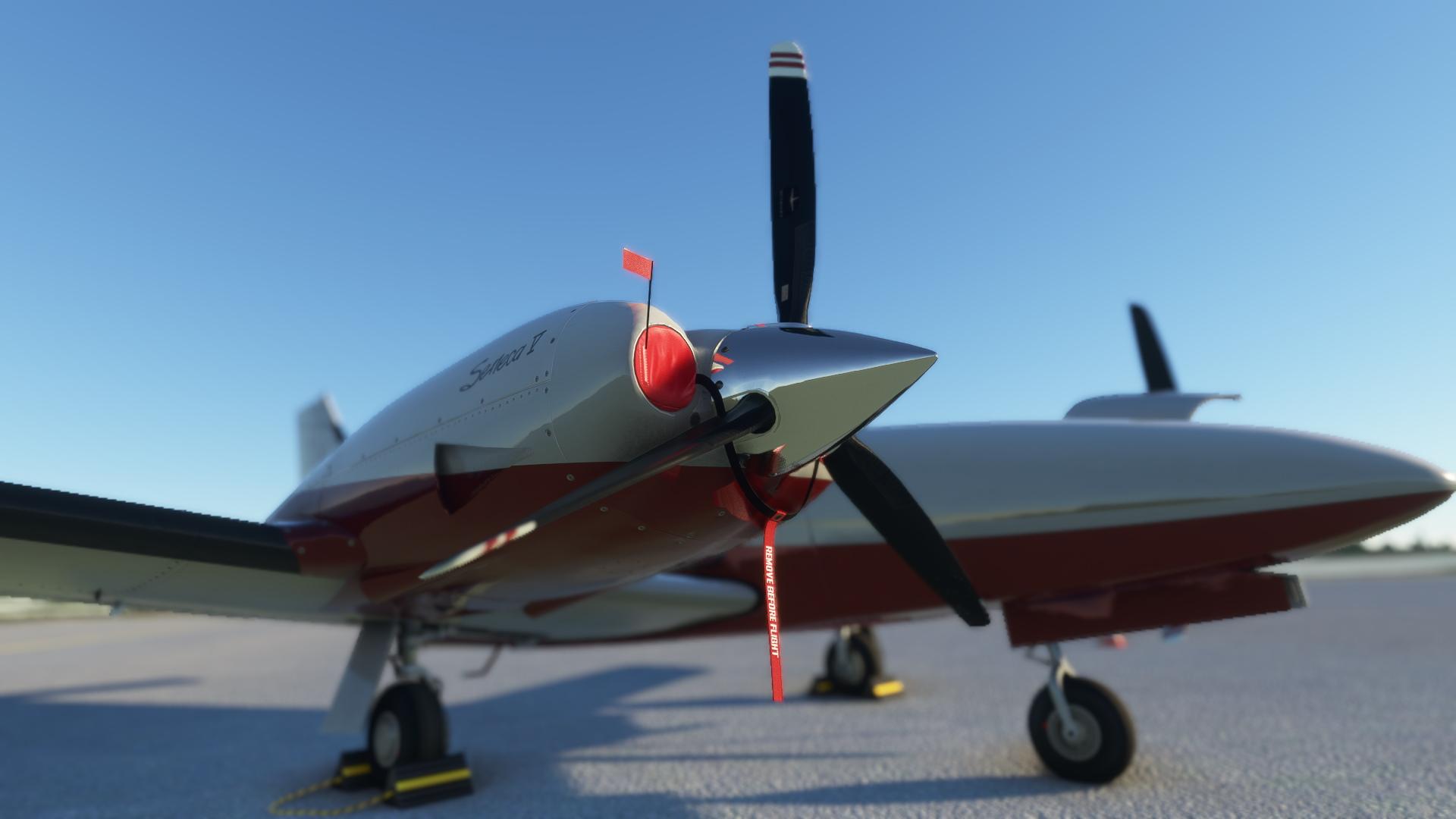 Microsoft Flight Simulator Carenado Pa34t Seneca V Parked Engine Close Up