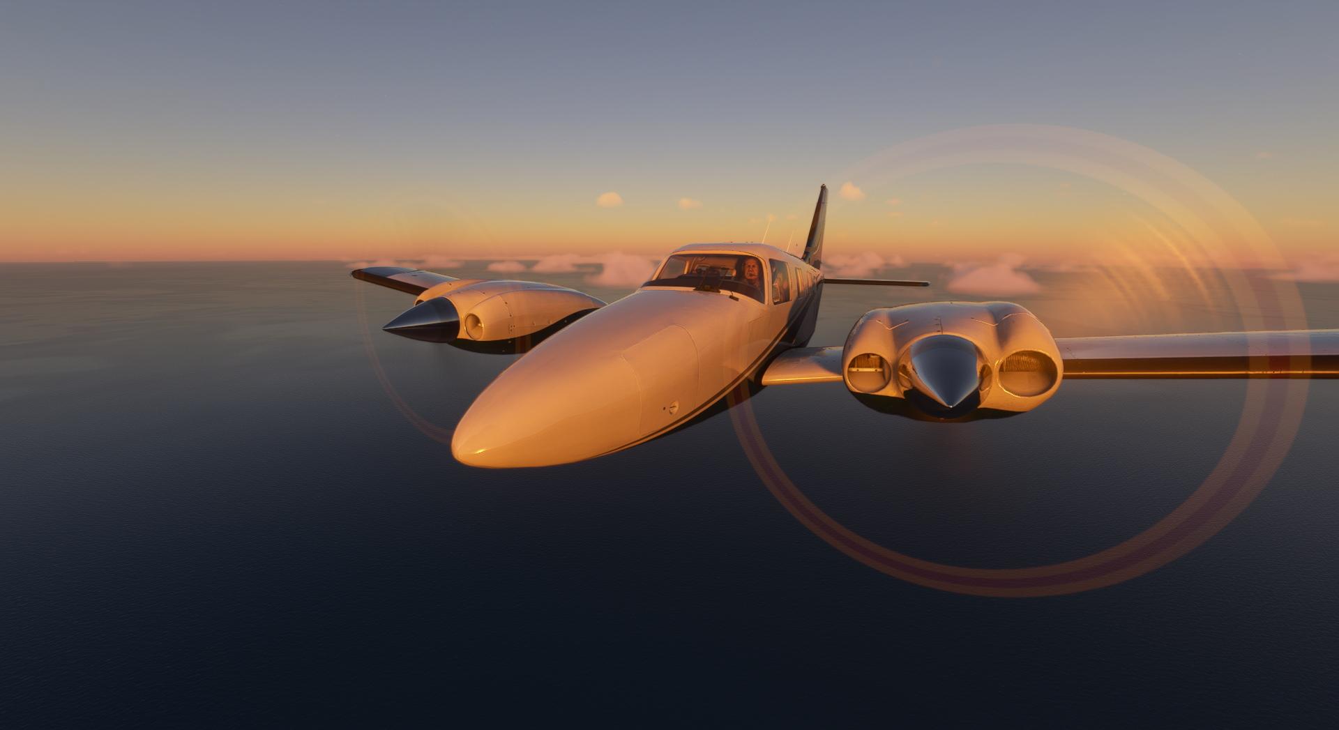 Microsoft Flight Simulator Carenado Pa34t Seneca V Sunrise Front View