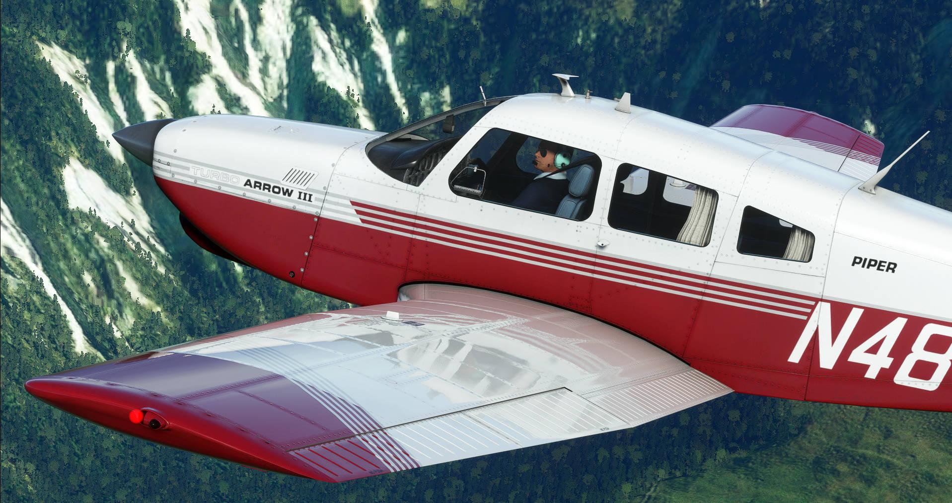 Microsoft Flight Simulator Just Flight Turbo Arrow Iii Iv 2