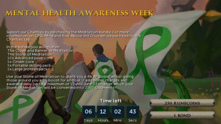Runescape Mental Health Awareness Week Promo