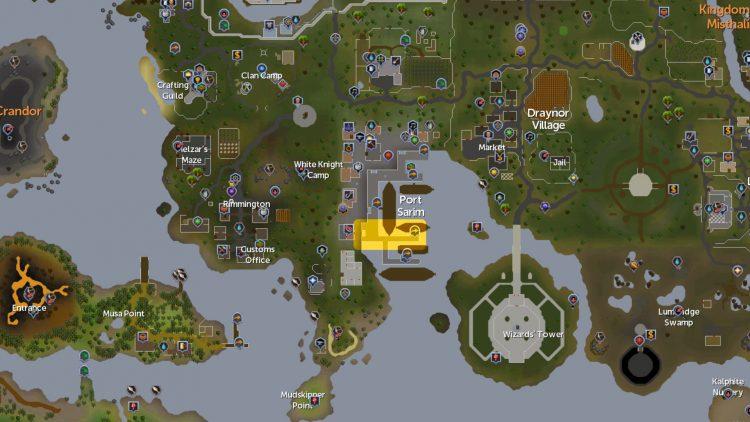Runescape Vis Wax Squire Port Sarim Docks