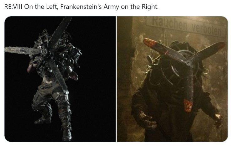 Resident evil village copying monster
