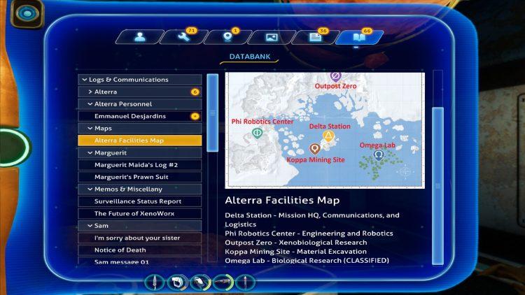 Subnautica Below Zero Guide Marguerit Maida Underwater Base Delta Station Alterra Sites Map