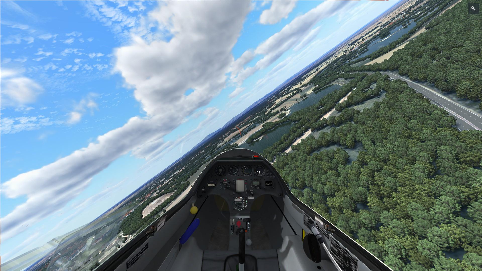 World Of Aircraft Glider Simulator Cockpit View gameplay