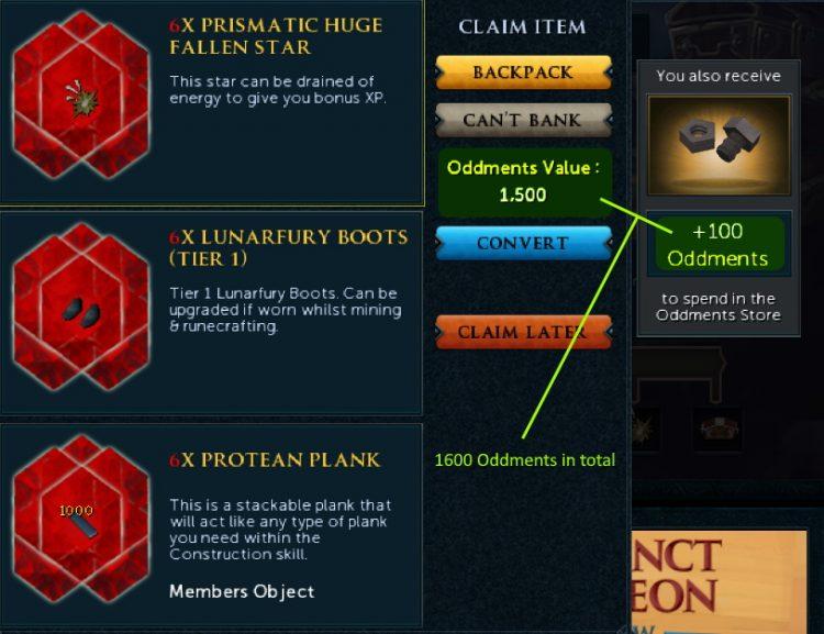 Runescape Loot Duels Promo Oddments