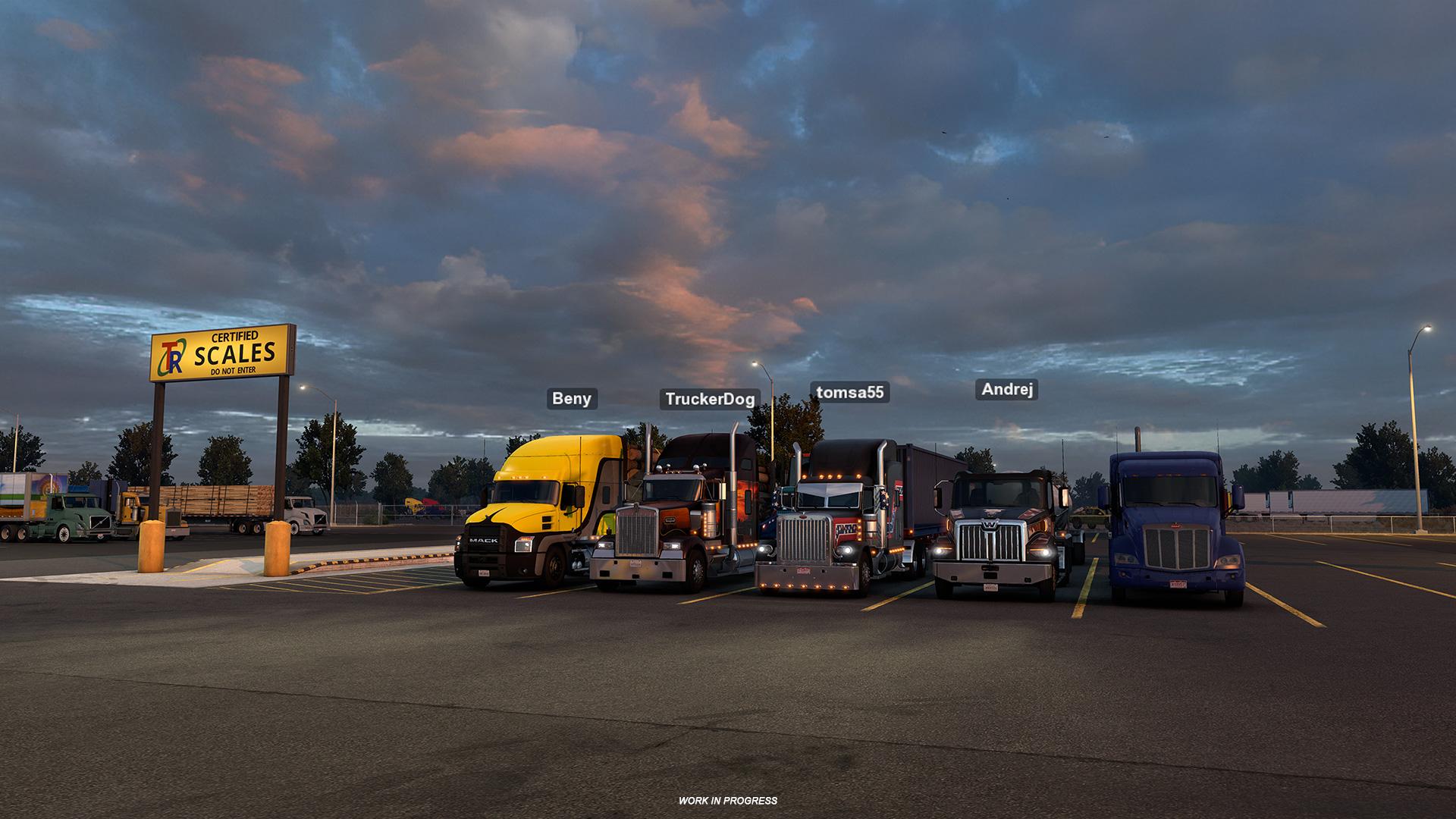 American Truck Simulator Open Beta 1.41 Convoy Mode