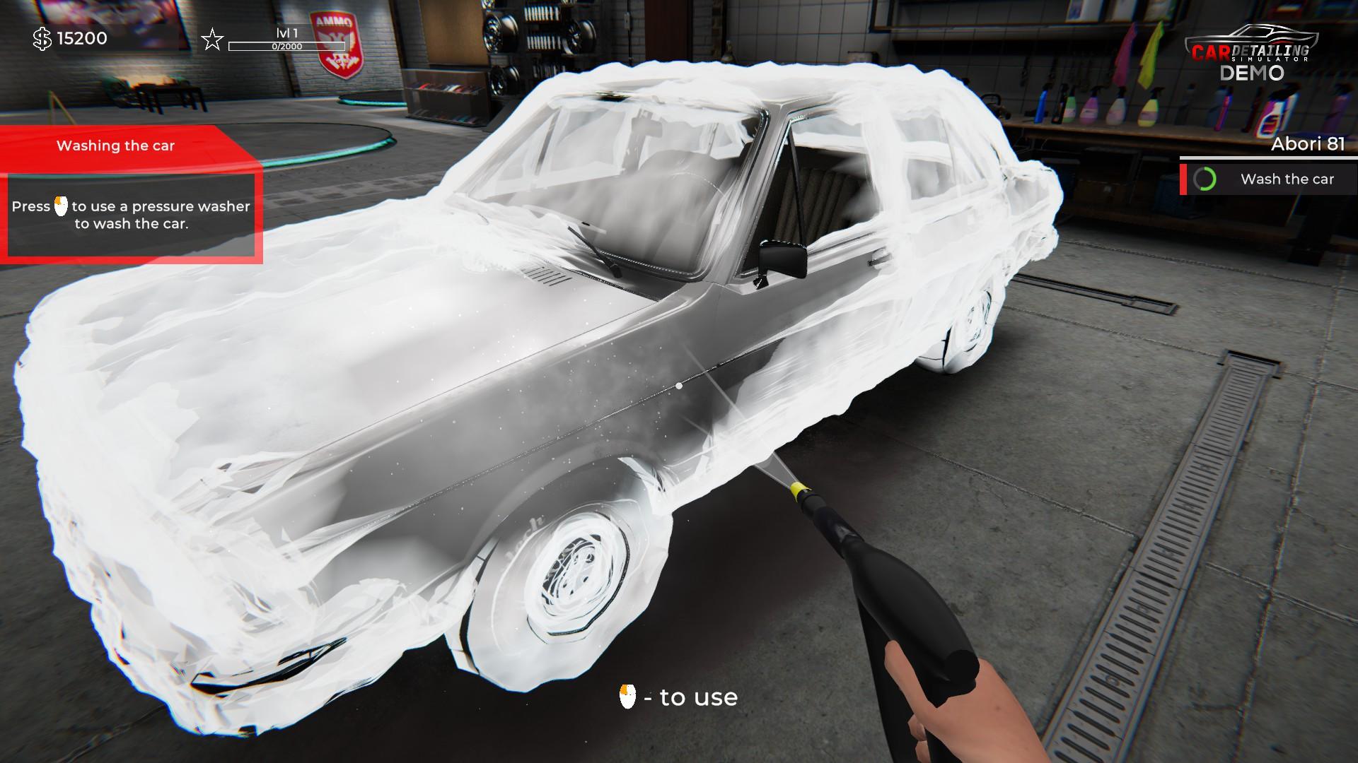 Car Detailing Simulator Steam demo