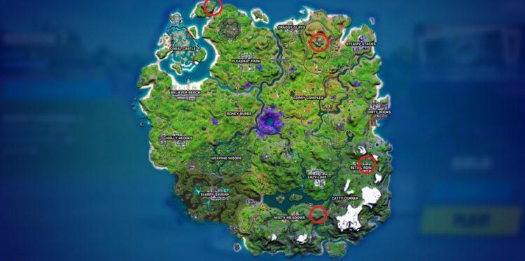 Fortnite Season 7 Exotic Weapons locations map npcs
