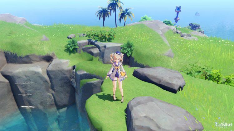 Genshin Impact Broken Isle Water Pillar Puzzle Guide Solution 1