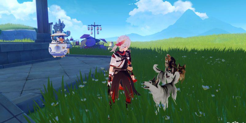 Genshin Impact Kazuha Elemental Mastery Serenitea Pot Teleportation Farming
