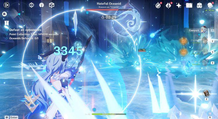 Genshin Impact Legend Of The Vagabond Sword Day 5 Oceanid Урания Руководство 1