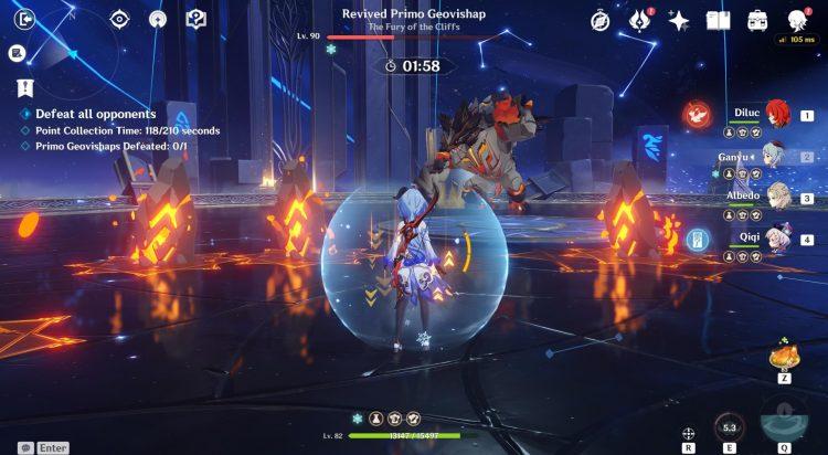 Genshin Impact Legend Of The Vagabond Sword Руководство по событию Награды Flairs Модификаторы Сложность Primo Geovishap 2b