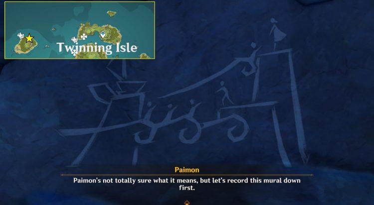 Genshin Impact Руководство по локациям всех фресок Другая сторона острова и моря 4