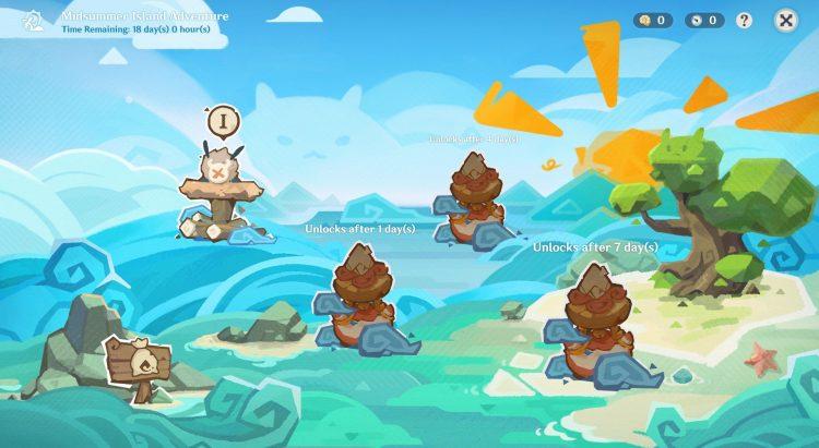 Genshin Impact Version 1.6 Midsummer Island Adventure Kazuha Golden Apple Archipelago Barbara Swimsuit Guide 1