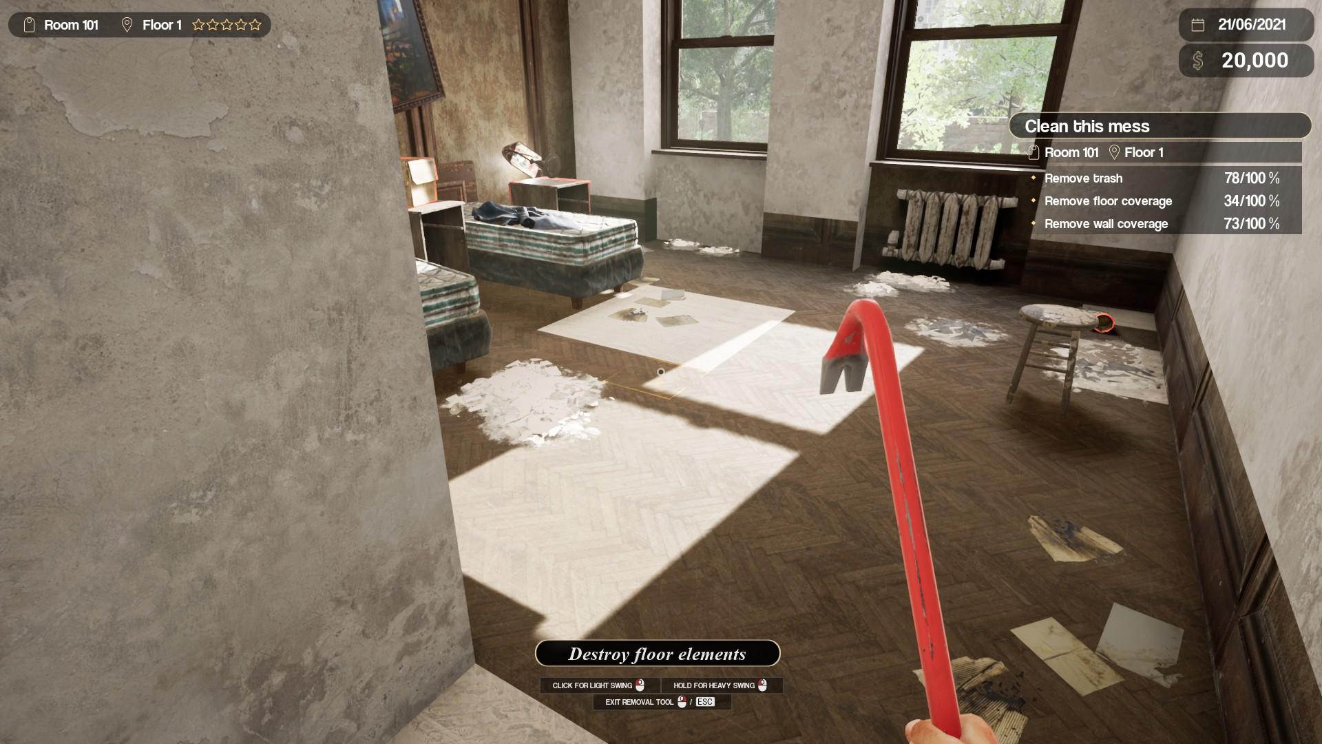 Hotel Renovator Indoor Demolition