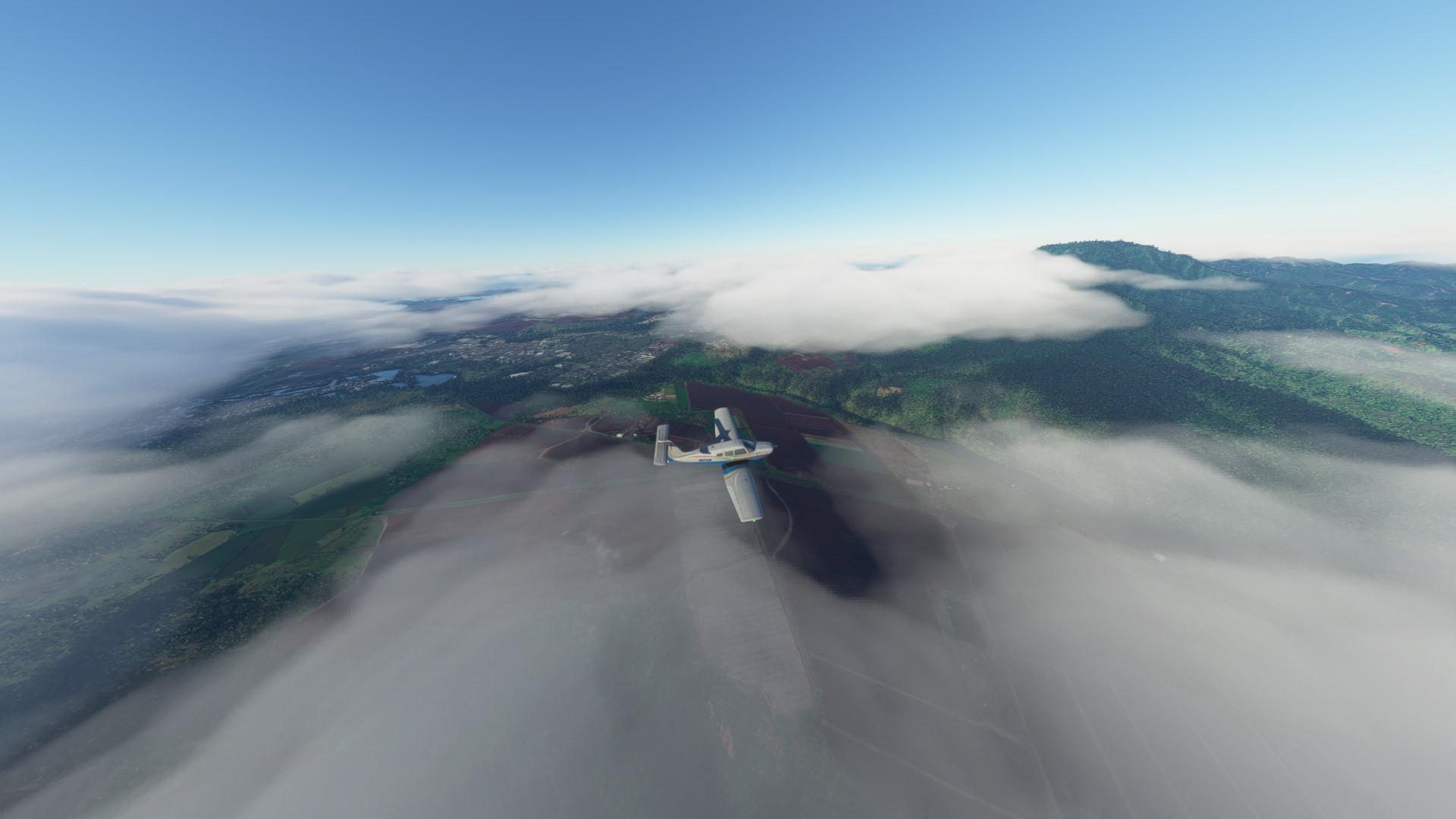 Microsoft Flight Simulator weather clouds camera mode