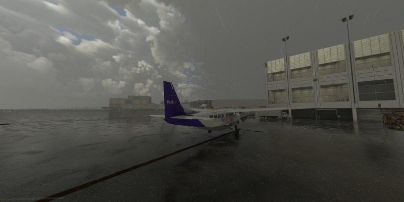 Microsoft Flight Simulator Rex Global Airport Textures Rain Seattle