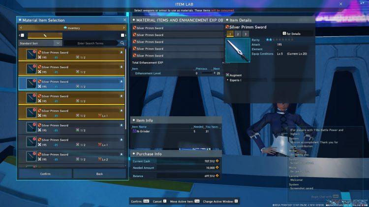 Pso2 New Genesis Enhance Silver Primm Sword Метод