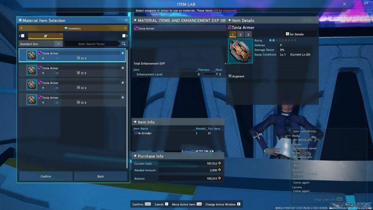 Pso2 New Genesis Enhance Tzvia Armor Method
