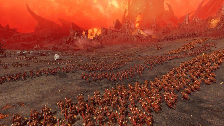 Total War Warhammer Iii Warhammer 3 Khorne Skarbrand Announcement Warhammer Ii Warhammer 2 Silence And Fury Oxyotl Taurox 1