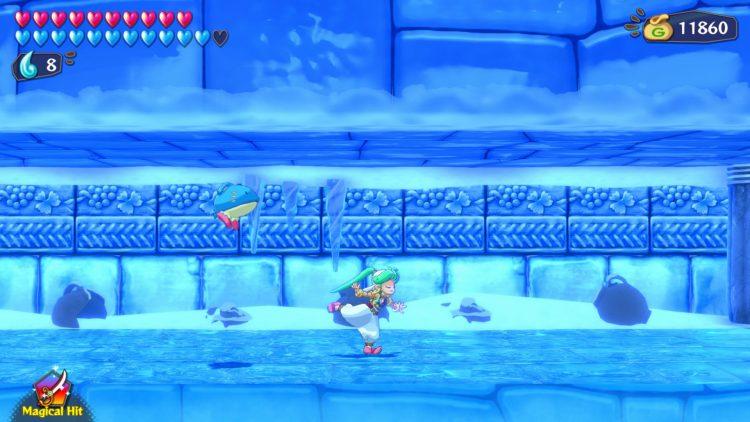 Wonder Boy Asha In Monster World Review gameplay ice temple shirine