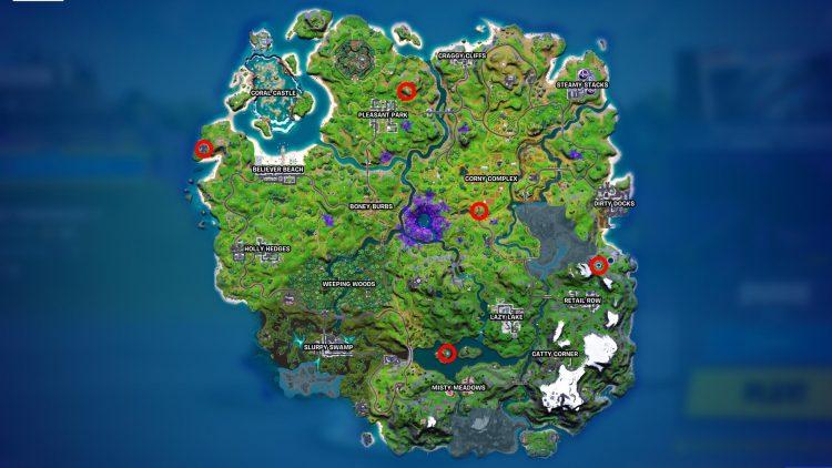 Fortnite Alien Artifacts Locations Season 7 Map Kymera