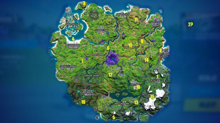 Fortnite Season 7 All Npc Character Locations Quests Weapons