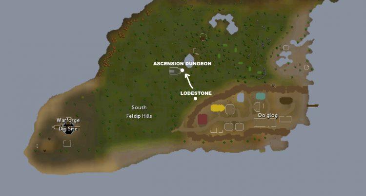 Runescape Capsarius Soul Ascension Dungeon Location farming guide