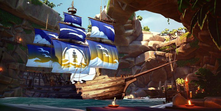 Sea Of Thieves Season Three Rewards Jack Sparrow Crossover Pirates Of The Caribbean Blue Horizon Sails