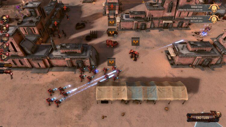 Warhammer 40000: Battlesector gameplay