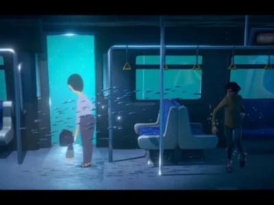 A Memoir Blue poem bus