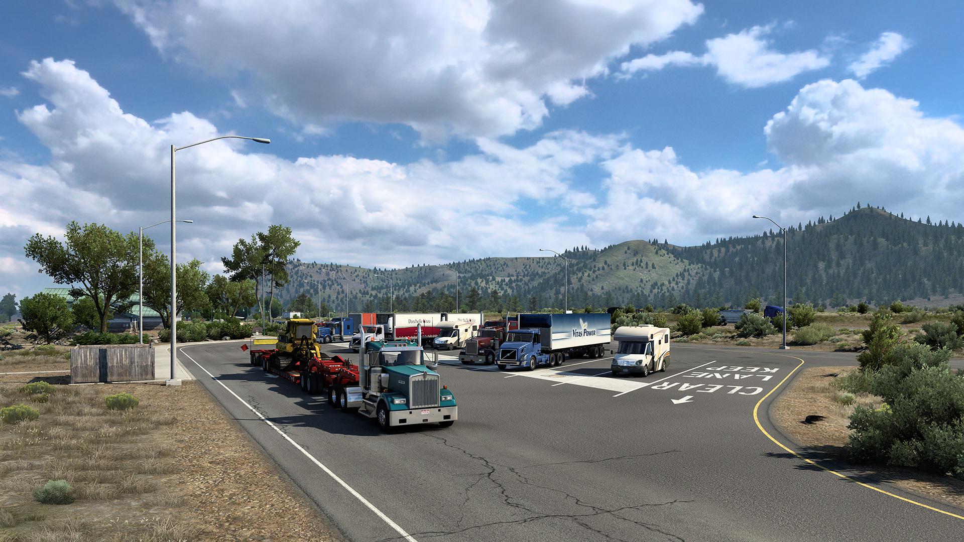 American Truck Simulator California Reskin gameplay release