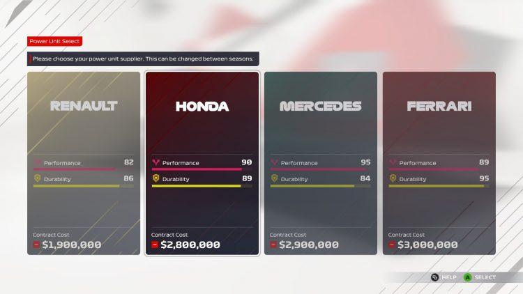 F1 2021 Myteam Guide Лучшие спонсоры Водитель двигателя Признание товарища по команде 3