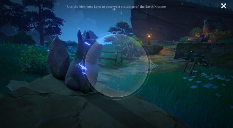 Genshin Impact Abandoned Shrine Sacred Sakura Ritual Mysterious Shadow Puzzle Guide Memento Lens 1
