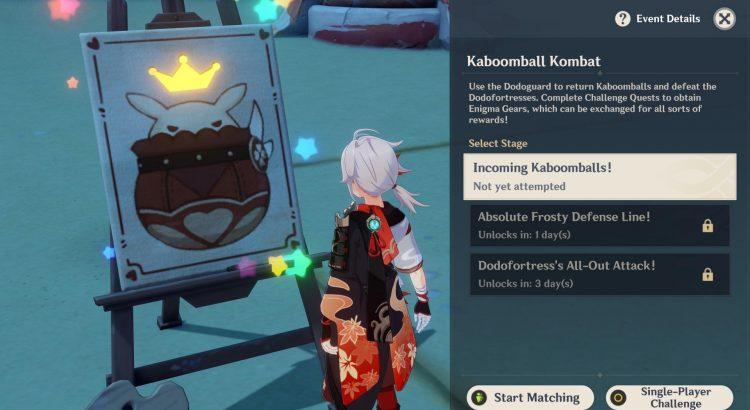 Genshin Impact Kaboomball Kombat Event Guide Rewards Enigma Gear 1