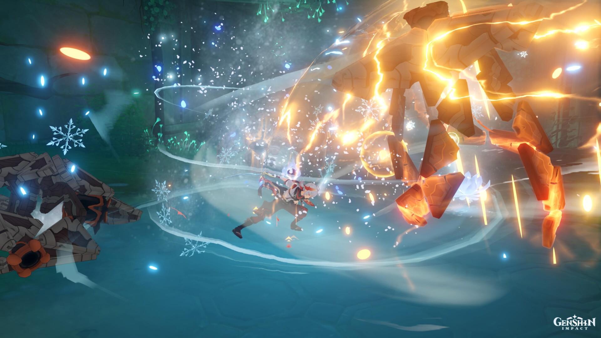 Genshin Affect Break Sentinels and Chaos Gear farming information