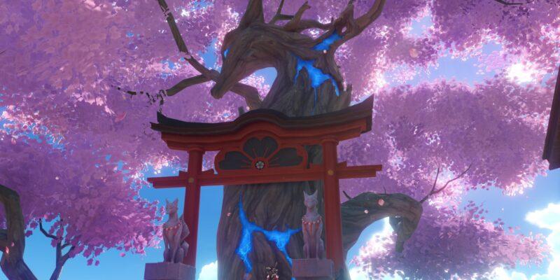 Genshin Impact Sacred Sakura Favor Upgrade Perks Rewards Guide