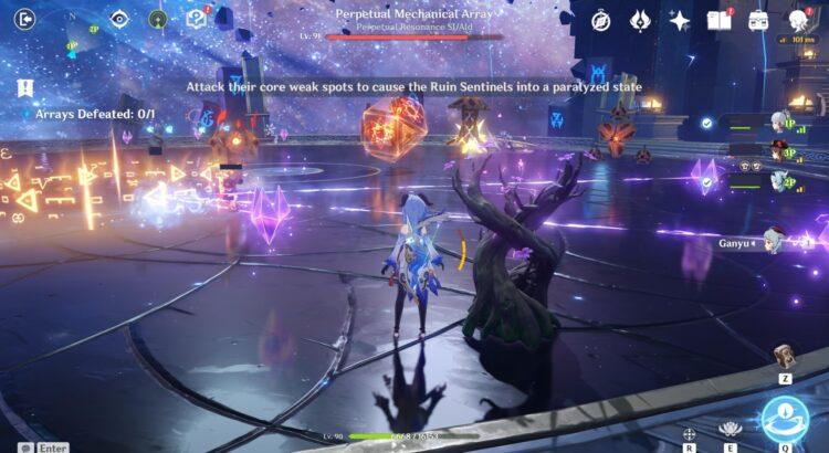 Genshin Impact Thunder Sojourn Automaton Front Perpetual Mechanical Array Thunder Crystal Free Beidou 2a