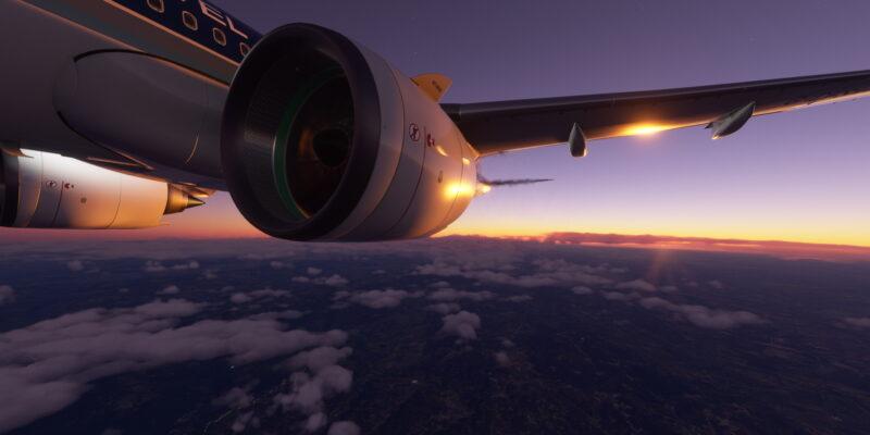 Microsoft Flight Simulator Airbus A320 Spain Sunset