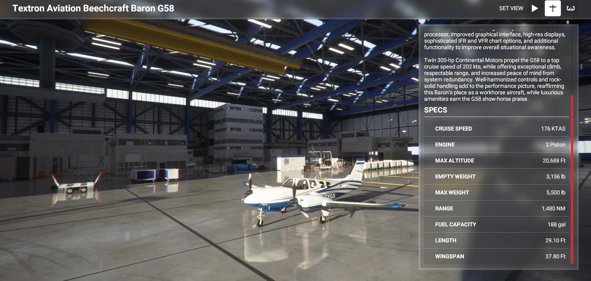 Microsoft Flight Simulator Beechcraft Baron G58