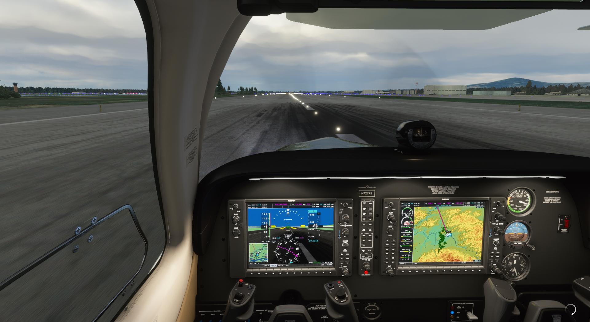 Microsoft Flight Simulator Beechcraft Bonanza Nexrad