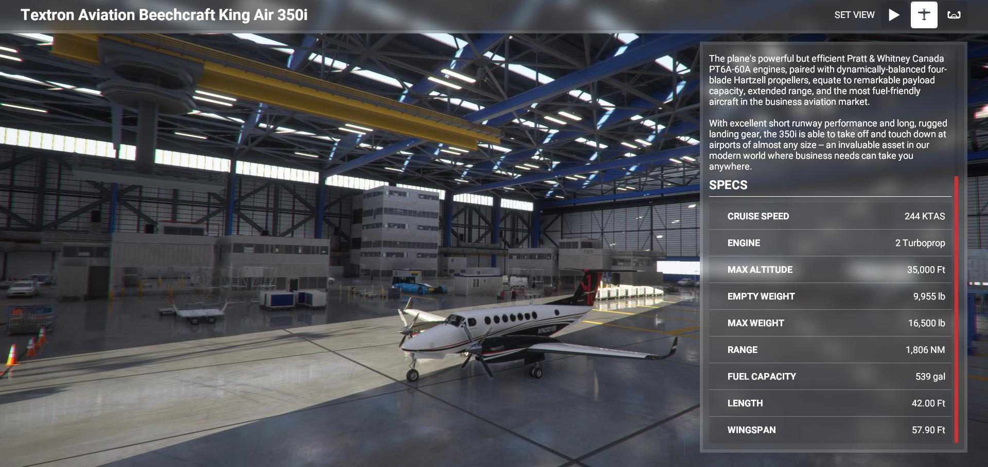 Microsoft Flight Simulator Beechcraft King Air 350i