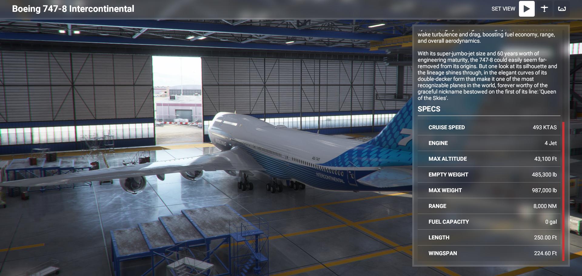 Microsoft Flight Simulator Boeing 747 8i