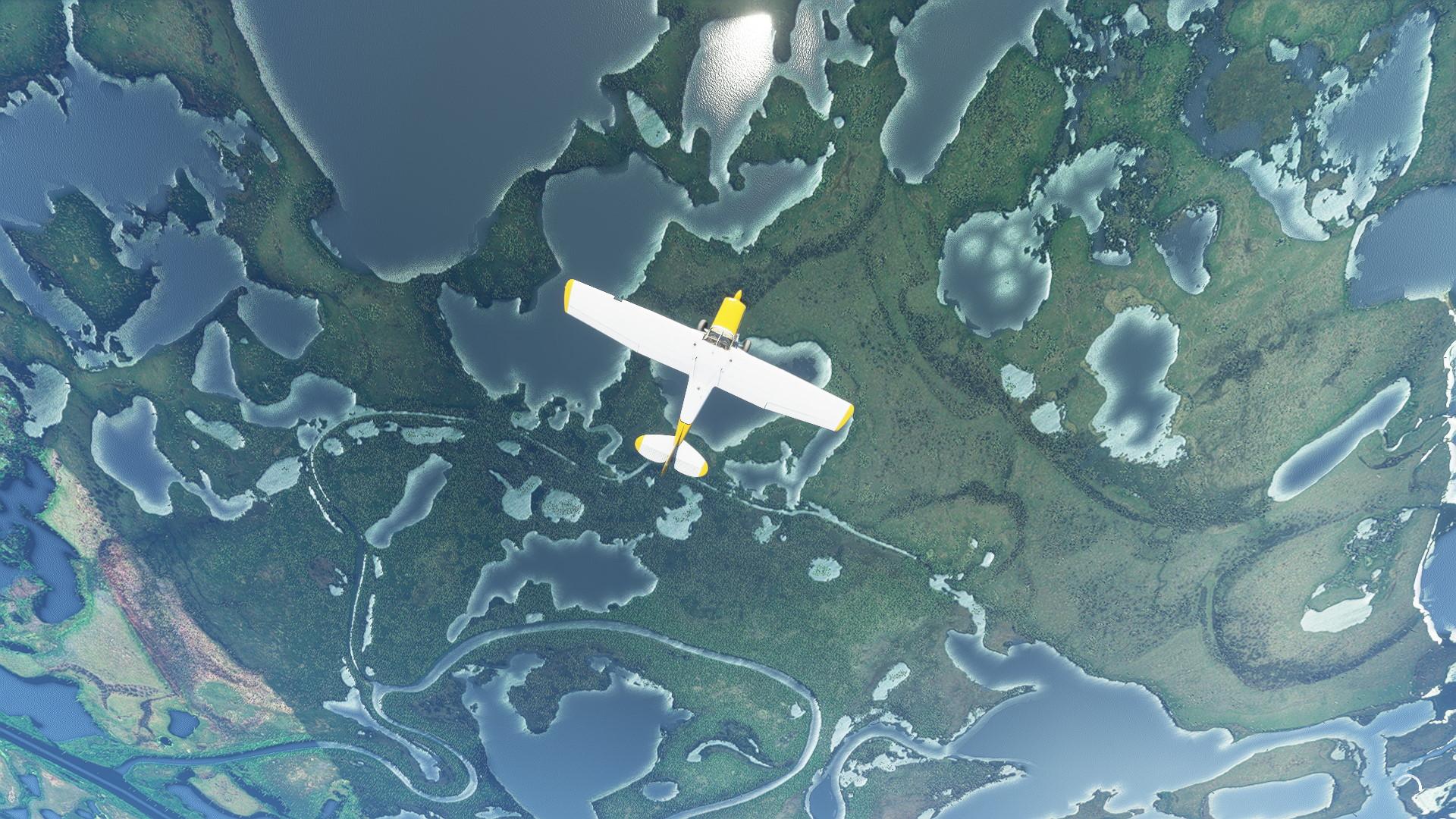 Microsoft Flight Simulator Carenado C170b Alaska Top Down