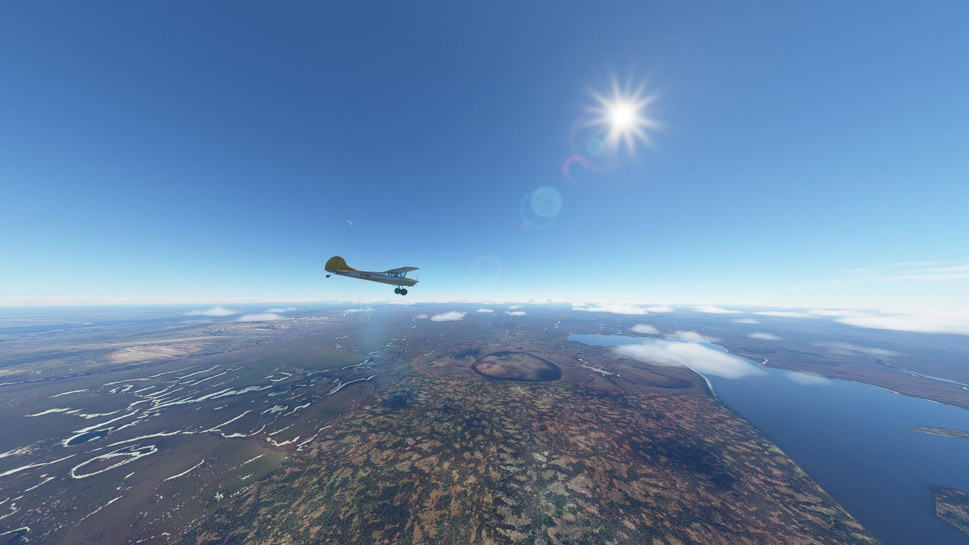Microsoft Flight Simulator Carenado C170b Alaska Wilderness