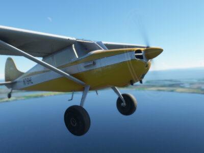 Microsoft Flight Simulator Carenado C170b Closeup
