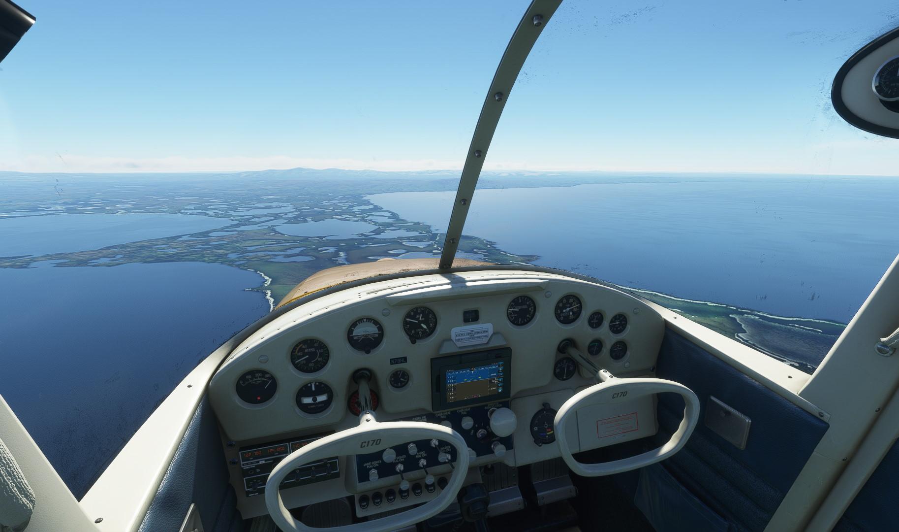 Microsoft Flight Simulator Carenado C170b Interior