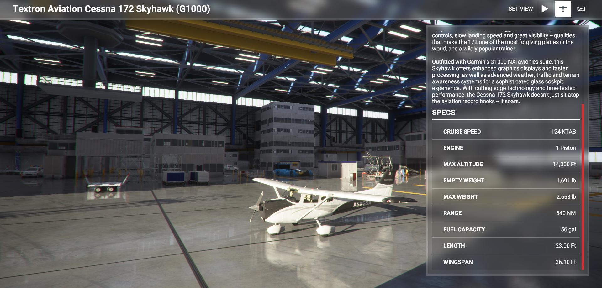 Microsoft Flight Simulator Cessna 172 G1000