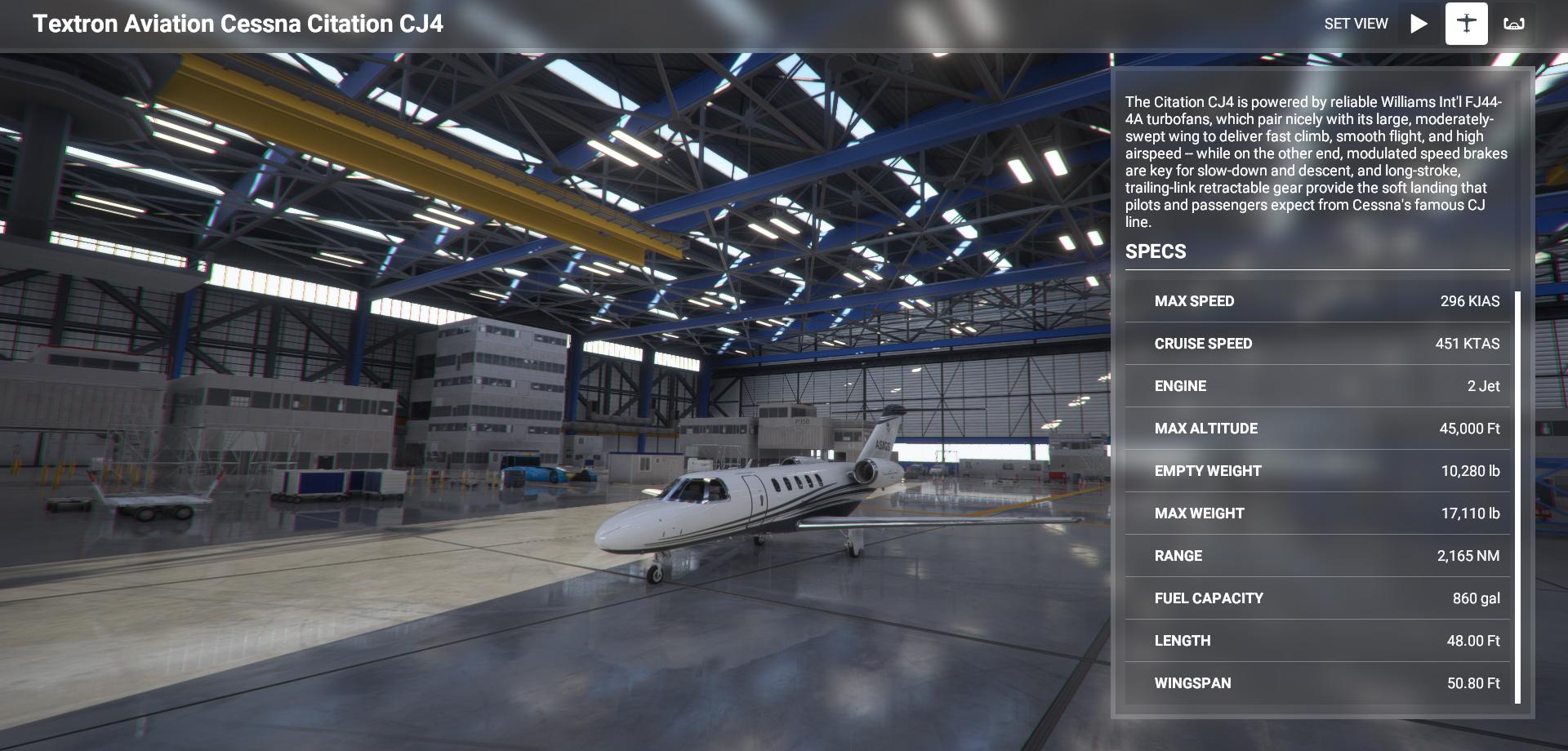 Microsoft Flight Simulator Cessna Citation Cj4